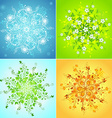 Four seasonal snowflakes vector image