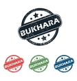 Round Bukhara city stamp set vector image