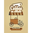 coffee on wheels vector image vector image