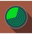 Radar flat icon with shadow vector image