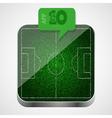 Soccer field app icon vector image