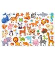 big set of animals vector image
