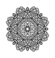 black and white decorative ornament vector image