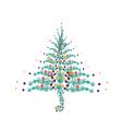 Five Christmas Balls Decoration on Christmas Tree vector image
