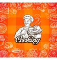 food and chef hand-drawn vector image