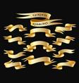 golden ribbon banner set vector image