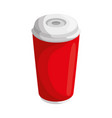 hot drink container vector image