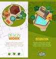 landscape design top view banners vector image