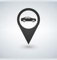 map pointer for transport car mark vector image