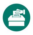 Flat voting icon vector image