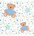 pattern bear stars vector image