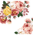 vintage background with beautiful roses or save th vector image