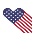 Usa flag hearts shape vector image