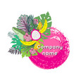 trendy tropical leaves design vector image