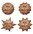 cartoon wooden seal of quality vector image