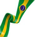 BRAZIL RIBBON FLAG vector image vector image