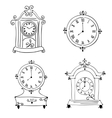 Old vintage clock hand drawn vector image
