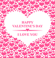 heart backg pink vector image vector image