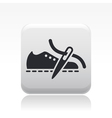 shoe production icon vector image vector image