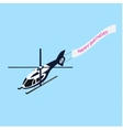 Isometric helicopter with ridgepole vector image vector image