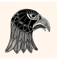 Hand Drawn head of eagle vector image