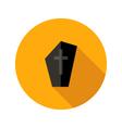 Dark Tombstone with Cross Flat Icon vector image
