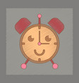 flat shading style icon kids alarm clock vector image