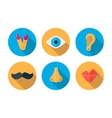 Human pieces icon in a flat design with long vector image