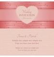 Modern wedding invitation pink vector image