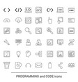 programming icon set programming icon set vector image
