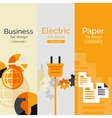 Set of flat design concepts - business electric vector image