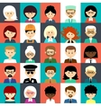 Set of flat icons with people vector image