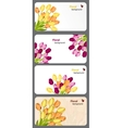 Set of nature gift cards vector image