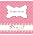 Polka dot flowers baby shower girl vintage vector image