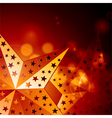 abstract golden stars vector image vector image