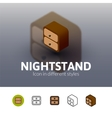 Nightstand icon in different style vector image