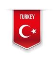 Turkey flag ribbon vector image