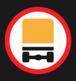 dangerous goods transport prohibition sign icon vector image