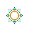 Abstract circle mosaic logo image vector image