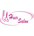 hair salon sign vector image vector image