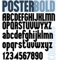 Poster Bold Classic style font vector image