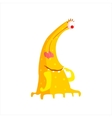 Yellow Childish Monster With Many Legs vector image