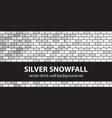 brick pattern set silver snowfall seamless brick vector image