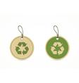 eco friendly labels vector image
