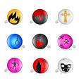 emo pins badges vector image