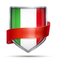 Shield with flag Italy and ribbon vector image