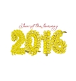 The coming year of the monkey who loves bananas vector image