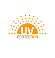 uv protection icon isolated anti sun vector image