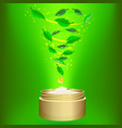 phyto cream on green background vector image