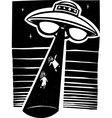 Alien Abduction Night vector image vector image
